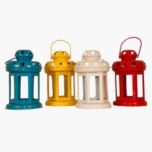 Handmade-Multicoloured-Metal-T-Light-Lanterns-