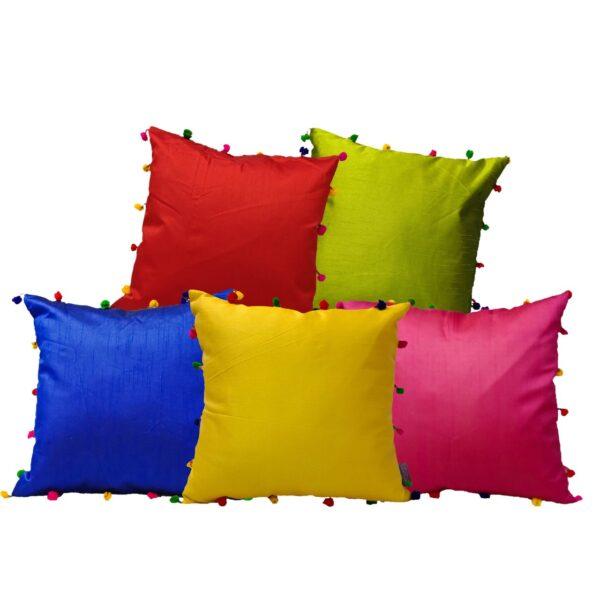 Colorful Pom Pom Cushion covers