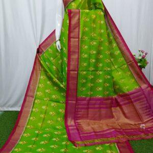 Pochampally Weaves Pure Ikkat Silk Saree