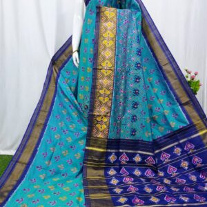 Pochampally Weaves Pure Ikkat Silk Saree